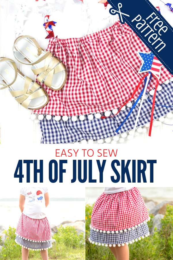 Free 4th of July Skirt Pattern