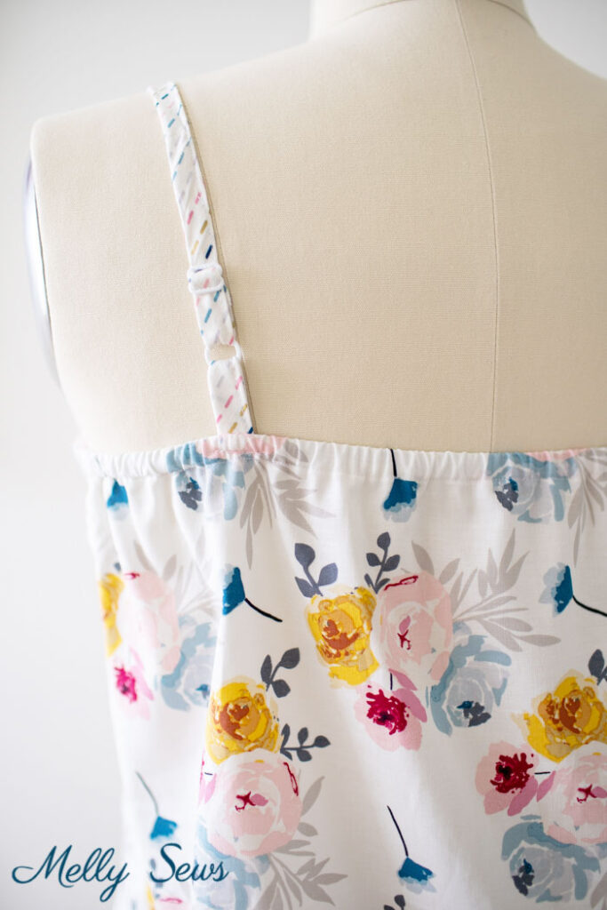 DIY summer tank or camisole pattern with adjustable straps