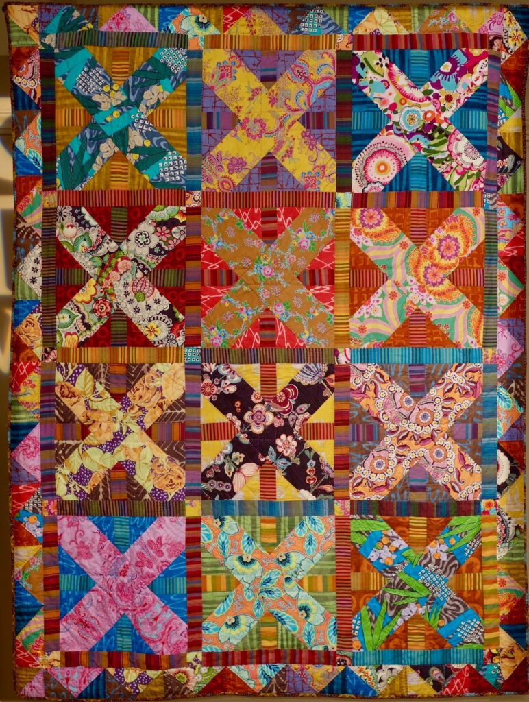 Free Quilt Pattern. Color Works Quilt by Kathy Doughty.