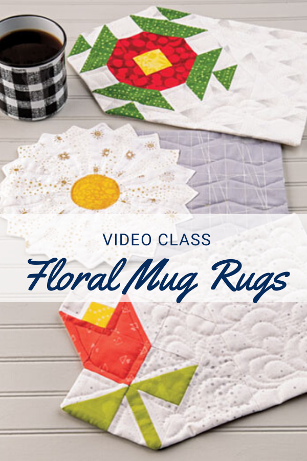 Floral Mug Rug Sewing Pattern and Video