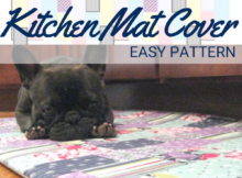 DIY Kitchen Mat Cover