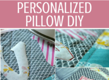 Free Personalized Pillow Tutorial, fat quarter sewing pattern