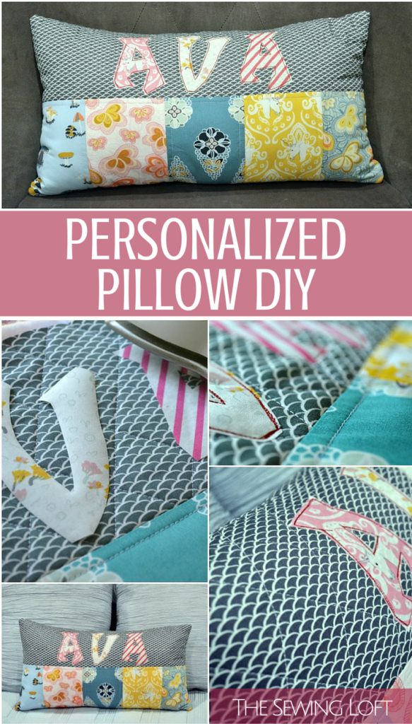 Free personalized pillow tutorial