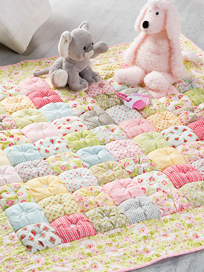 Easy and Quick Puff Baby Quilt