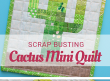 Free Cactus Mini Quilt Pattern and Tutorial