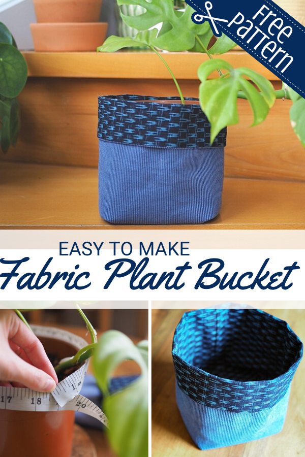 Easy to sew fabric plant basket