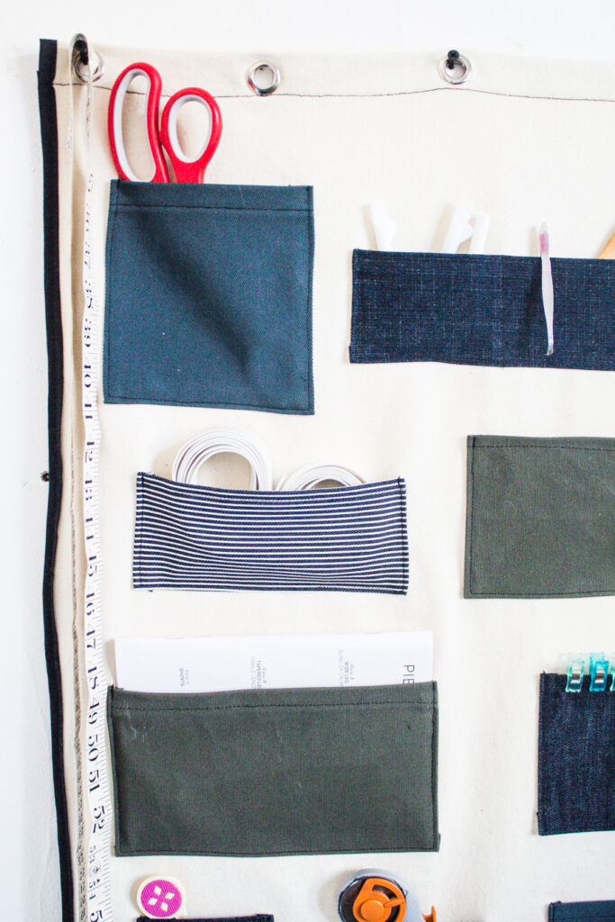 DIY Wall Organizer with pockets