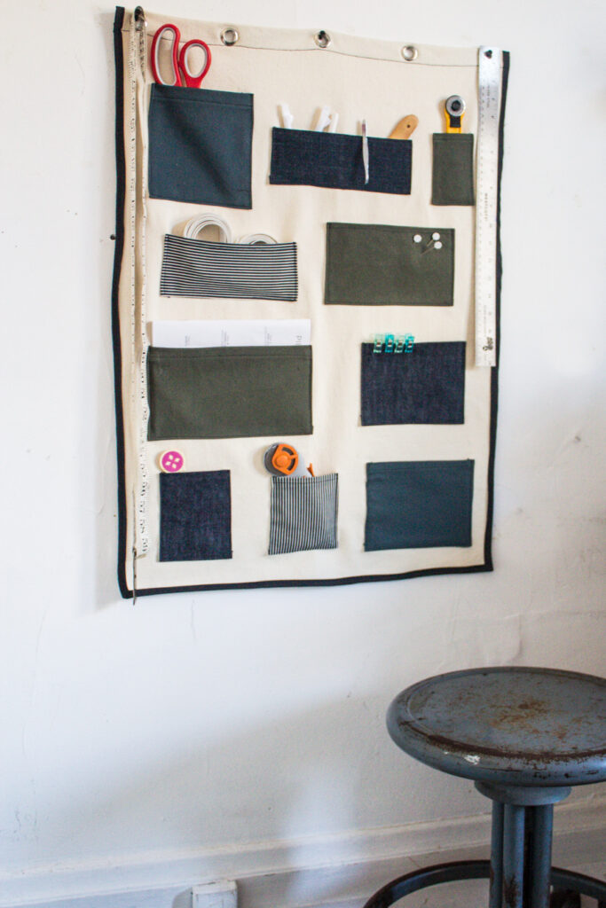 Canvas wall organizer tutorial
