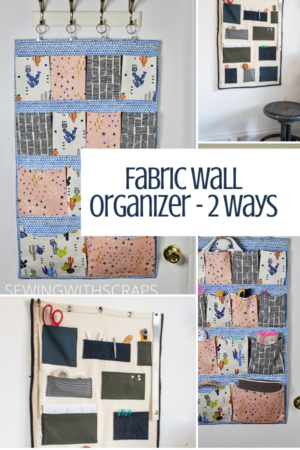 Fabric wall organizers - 2 ways