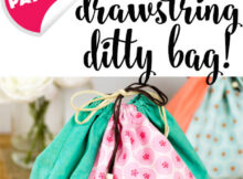 Free Drawstring Bag Tutorial. Learn to Sew!