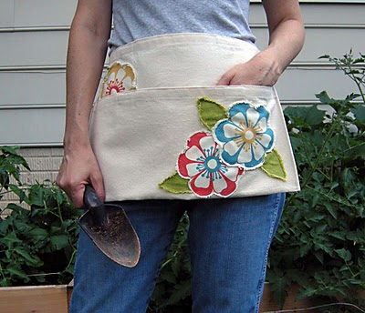 Gardening apron from a canvas tote bag