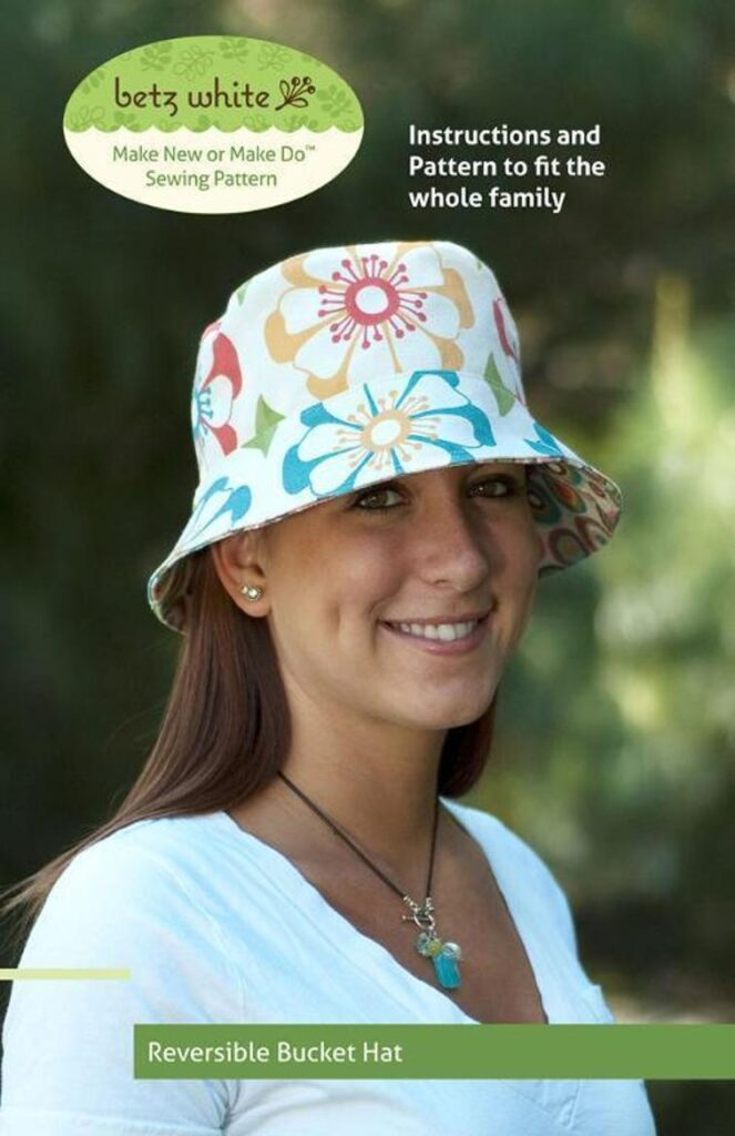 Bucket Style Sun Hat Sewing Pattern
