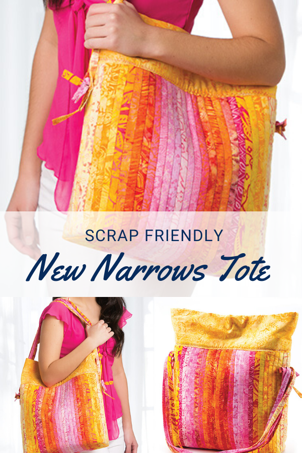 Scrap Friendly New Narrows Quilt As You Go Tote Bag