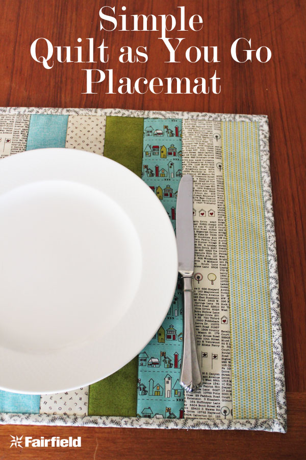 Placemat Sewing Tutorial for quilt as you go