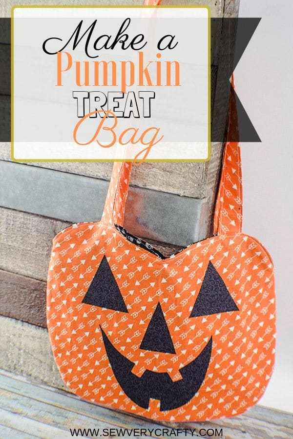 Free Pumpkin Treat Bag Sewing Pattern for fall sewing
