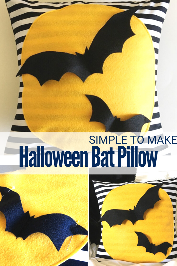 How to Make a Halloween Bat Pillow with felt and fabric