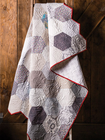 Chicken Wire Hexie Quilt Pattern and Video Class