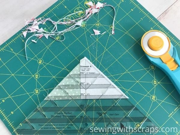 Cutting Solid Presents Quilt Block Handmade with Love