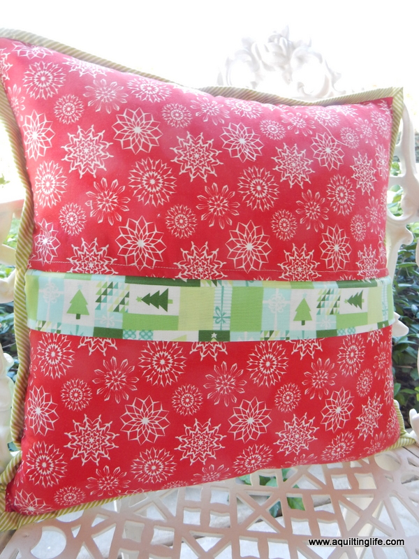 holiday pillow tutorial
