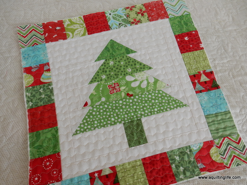 Christmas Tree Patchwork pillow design