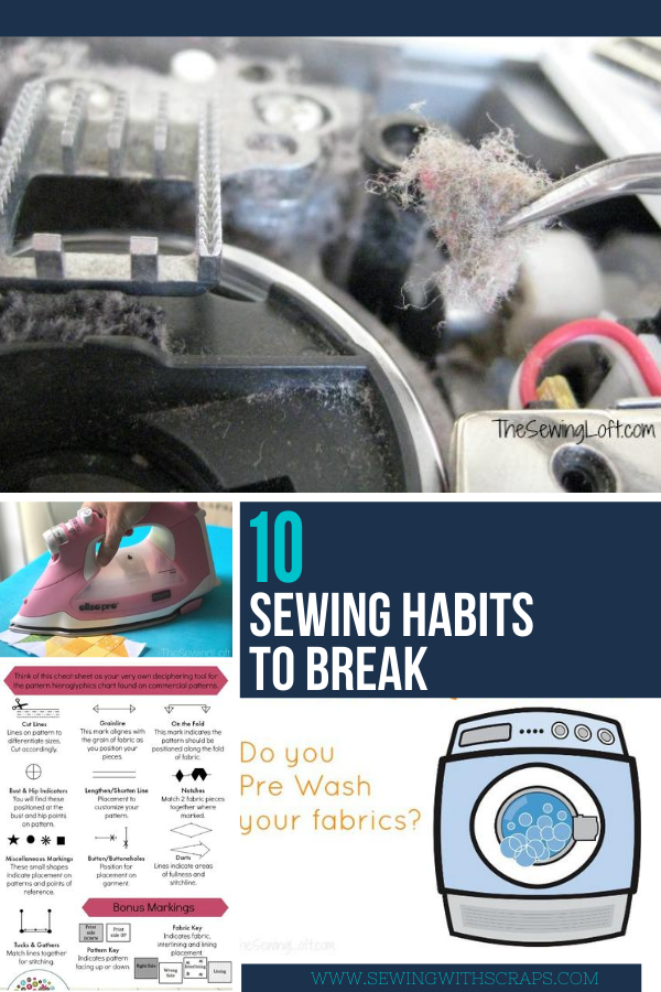 10 Bad Sewing Habits to Break - New Years Resolution