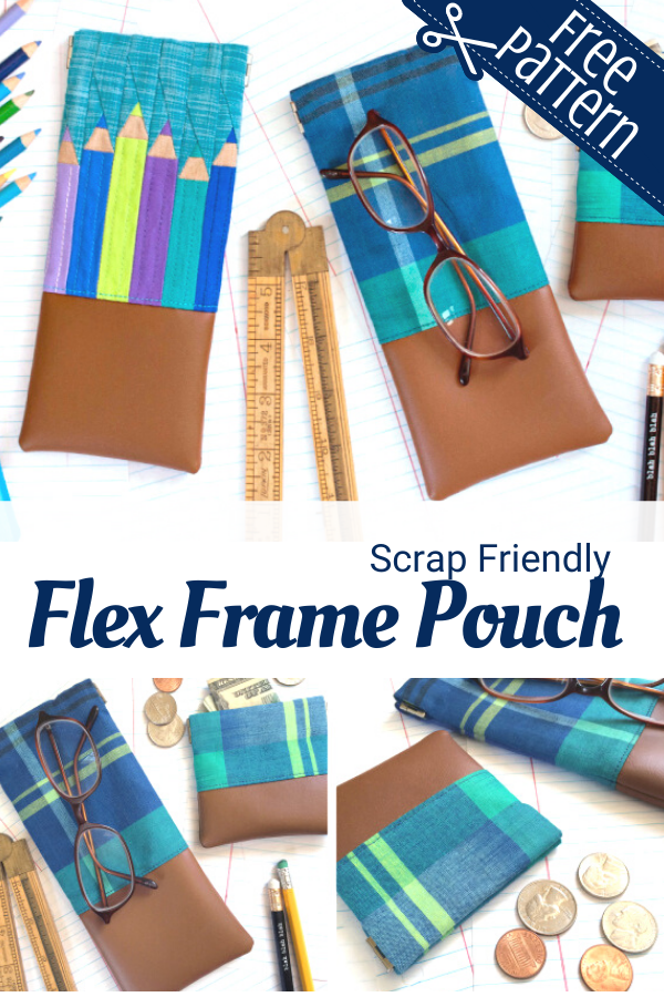 Free Flex Frame Pouch sewing pattern and tutorial