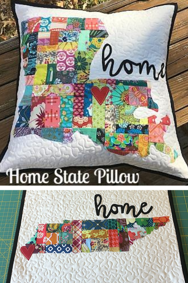 DIY home state pillow tutorial