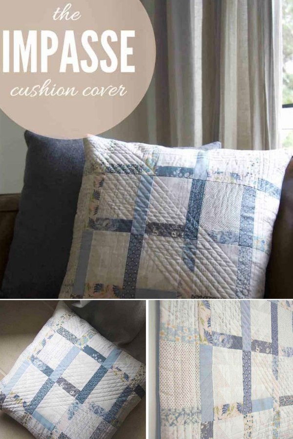Impasse Cushion Cover Free Sewing Pattern