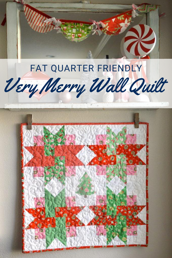 Very Merry Wall Mini Quilt Free Sewing Pattern