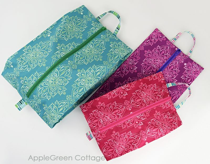 Free Sewing Pattern for expandable storage bags in 3 sizes