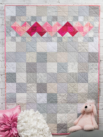 Heart Baby Quilt Pattern for beginner quilters