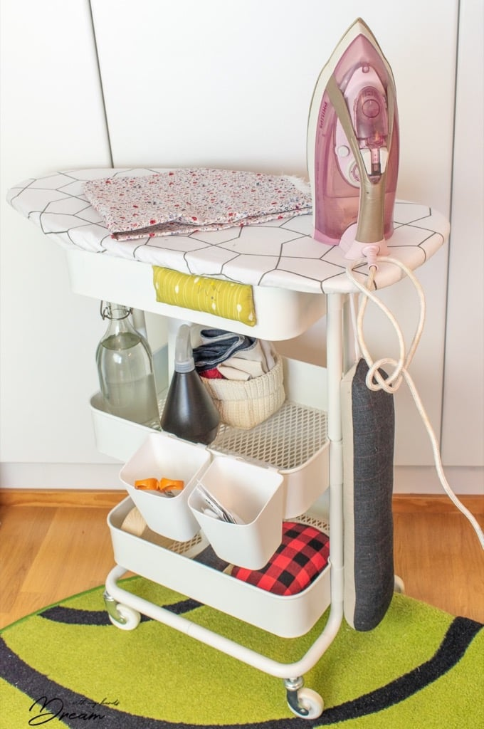 DIY Ironing Board Station for your Sewing Room