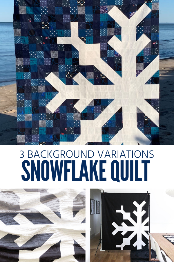 Snowflake Quilt Sewing Pattern by Modern Handcraft