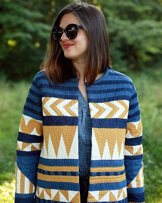 DIY quilted coat using the Tamarack Jacket Sewing Pattern