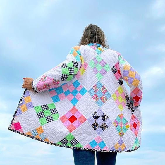 Quilt Coat with the Tamarack Jacket Sewing Pattern