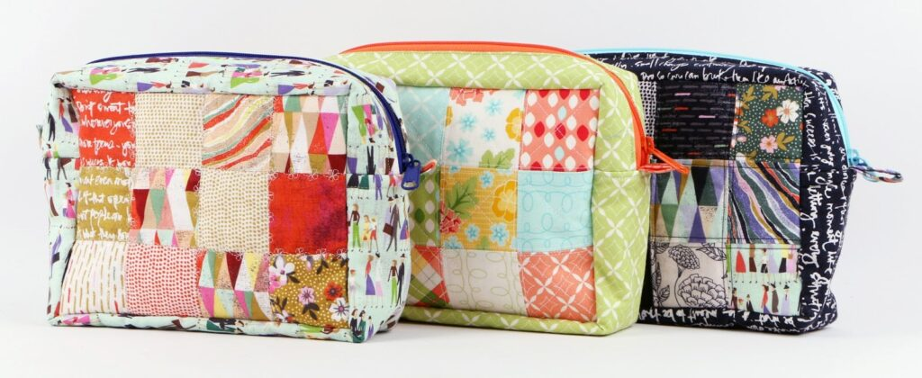 Patchwork Zipper Pouch Tutorial and Pattern