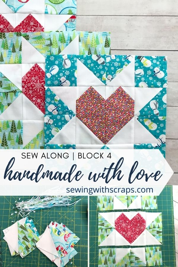 Come join the fun as we make block 5 in the Handmade with Love quilt along, the Star & Heart Present Quilt Block
