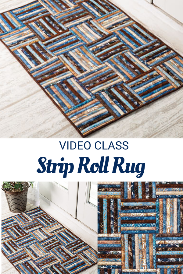 Video Sewing Class and Pattern for a Strip Roll Rug