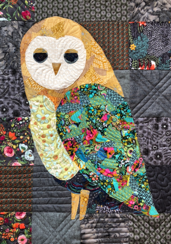 Owl Collage Quilt Free Pattern