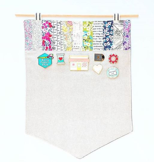 DIY Enamel Pen Pennant Display