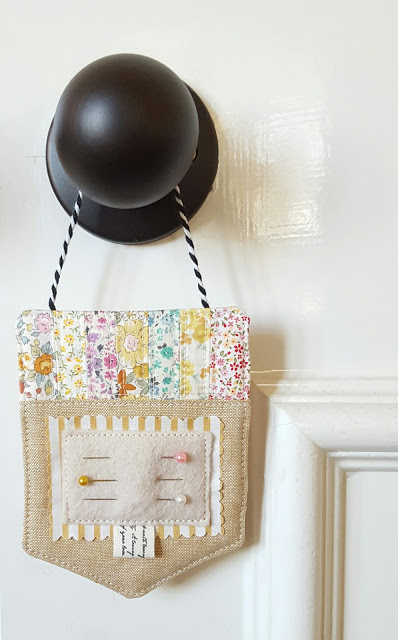 Free hanging pincushion sewing tutorial
