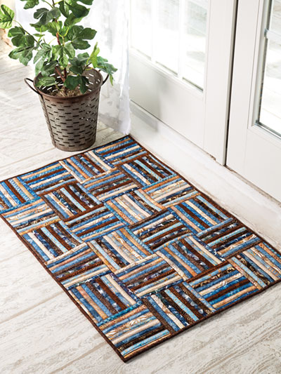 Strip Roll Rug Sewing Pattern and Video Class