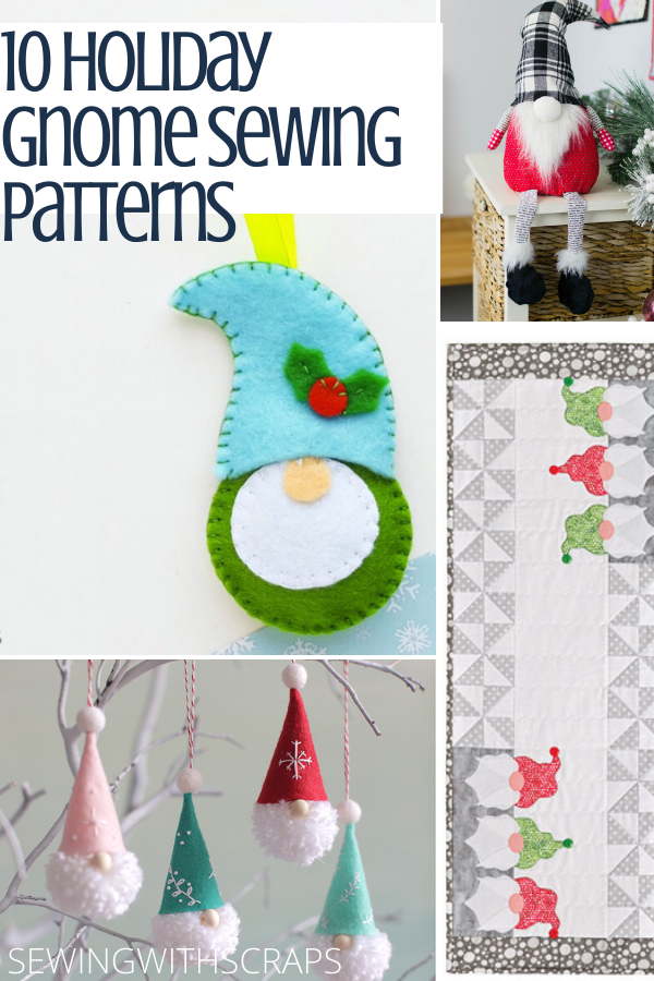 Holiday Gnome Sewing Pattern Round Up