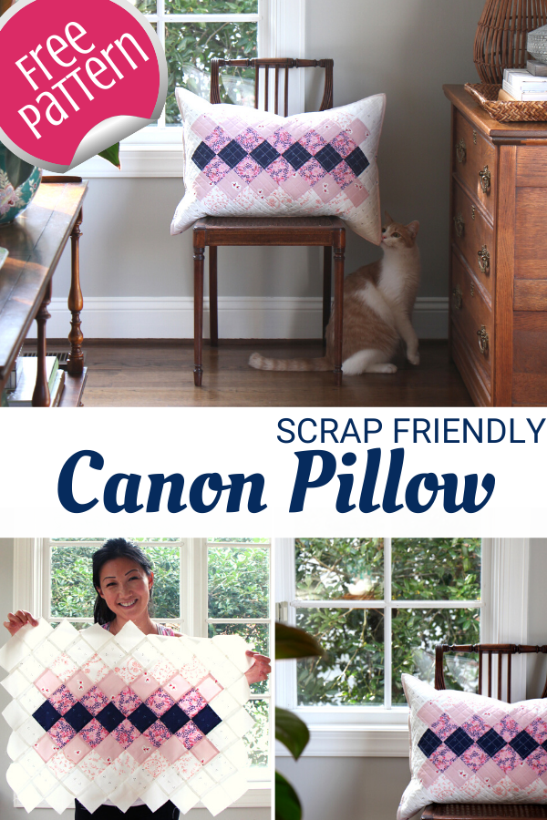 Canon Patchwork Pillow Cover - free pattern and tutorial