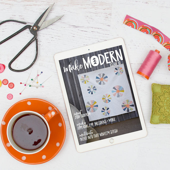 Make Modern Magazine offers amazing patterns, stunning photography and TONS of quilt inspiration.