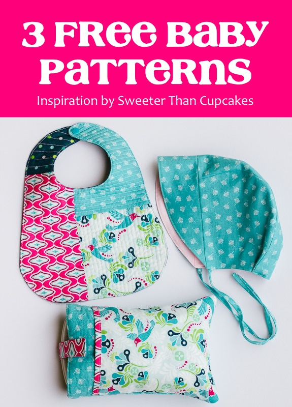 3 Free Sewing Patterns to create a baby gift set