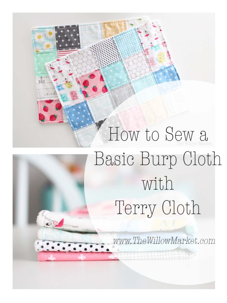 How to Sew a Burp Cloth with Terry Cloth