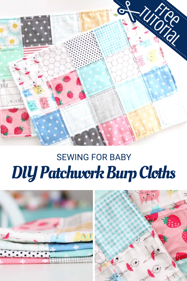 DIY Patchwork Burp Cloth Tutorial