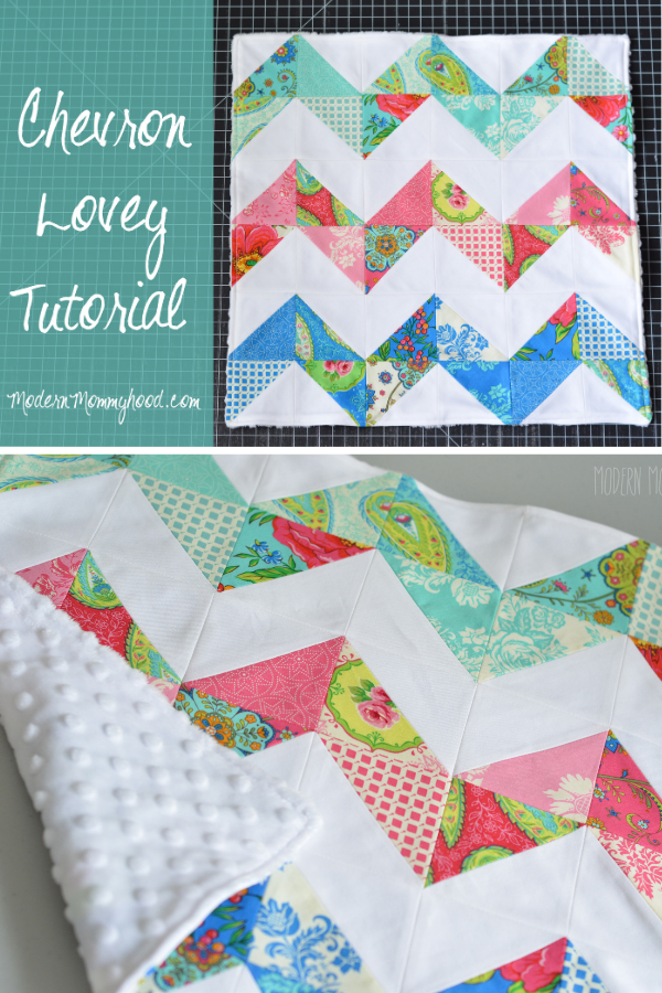 Chevron Lovey Tutorial. Baby Blanket free sewing pattern