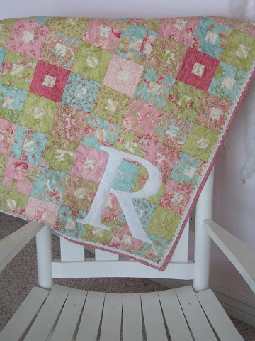 Quick and Easy Baby Quilt with Monogram